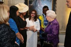 With He Highness, Queen Elizabeth II